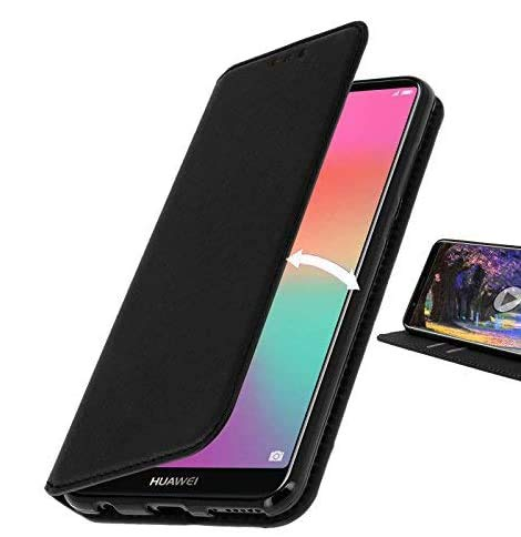 AURSTORE Housse Etui Portefeuille pourCompatible avec Huawei Honor 7A Porte Carte ECO Cuir Coque Etui Pochette Compatible pour Huawei Honor 7A (Noir)