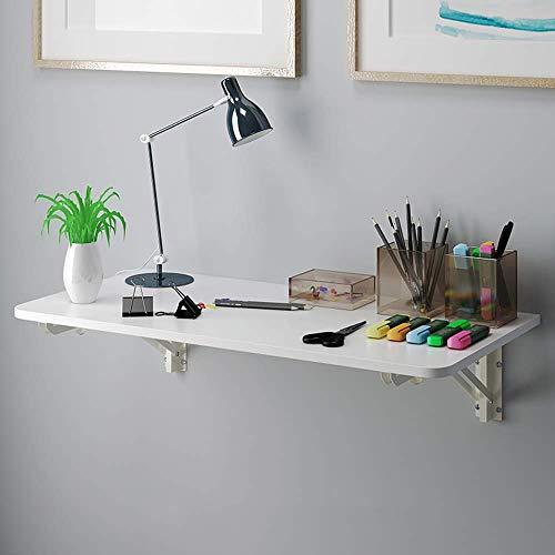 XLAHD Computerarbeitsplätze Klappbare Wand-Werkbank Küchen-Esstisch Büro-Computertisch für kleine Räume, Cabrio-Schreibtisch, Weiß,