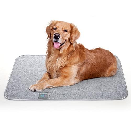 Luxear Hundematte waschbar gegen Geruch, Matte für Hunde Katzen mit stark Saugfähigkeit, Hundedecke rutschfest ungiftig, Trainingsunterlagen Matte Pads für Haustiere, 70×90cm