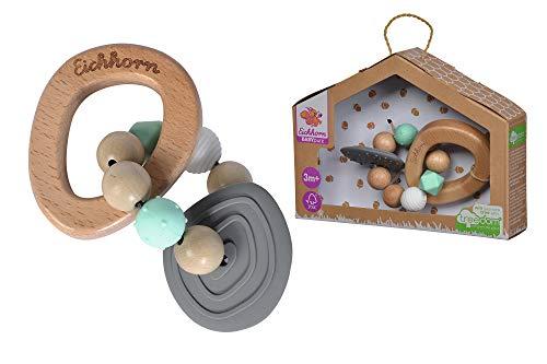 Eichhorn - Baby Pure Beißring - aus FSC 100% zertifiziertem Buchenholz, nachhaltiges Holzspielzeug, mit Beißelement, Zahnungshilfe, BPA frei, für Kinder ab den ersten Lebensmonaten geeignet