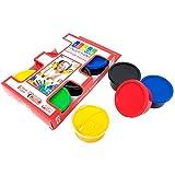 SUDOR Fingerfarben Kinder ungiftig und schnell abwaschbare mit 6x30 ml Farben Set, Kinder und Hobbymaler, 6 lebendigen Farben (Schwarz, Weiß, Grün, Blau, Gelb, Rot)
