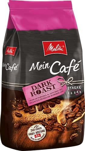 Melitta Mein Café Dark Roast, Ganze Kaffeebohnen, Stärke 4, 1kg