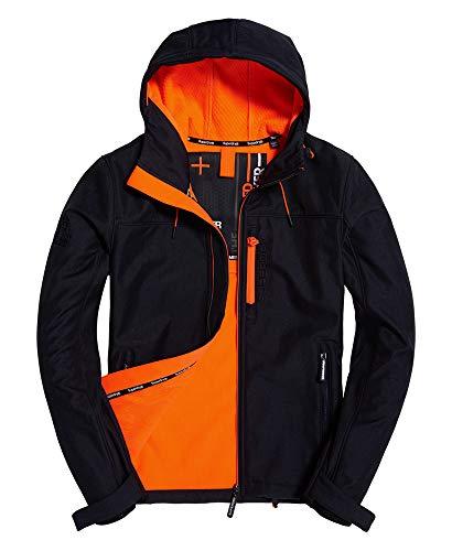 Superdry Jacke Herren Hooded WINDTREKKER Deep Navy/Lazer Orange, Größe:XL