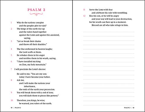 NIV, Psalms and Proverbs, Hardcover, Pink, Comfort Print: Poetry and Wisdom for Today