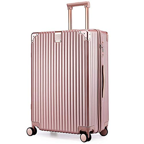 Luggage with Spinner Wheels, Expandable Strong and Sturdy with TSA Lock Spinner Carry-On High Quality Suitcase for Traveling Adults Aircraft-54 cm(20')-Rose Gold