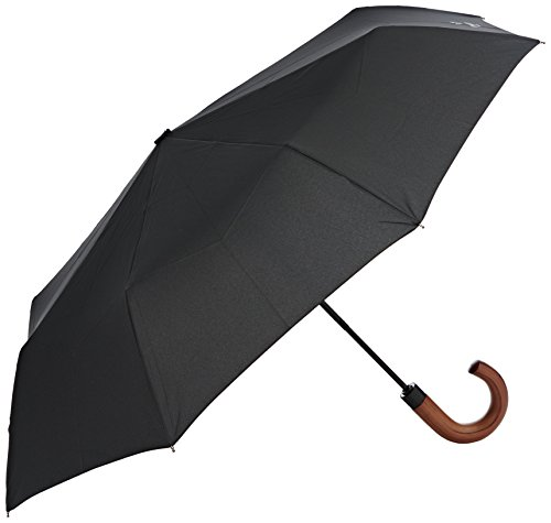 Hackett Clothing Auto O And Close Foldable, Paraguas Hombre, Negro (Black), One Size(UK)