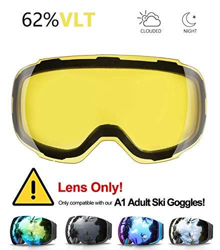 eDriveTech Ersatzglas für Skibrille -Schnell Austauschbaren Linsen -Only for B0762GN4ZW/B0762F9B2W/B076BMTFJG/B07JK3HCCQ