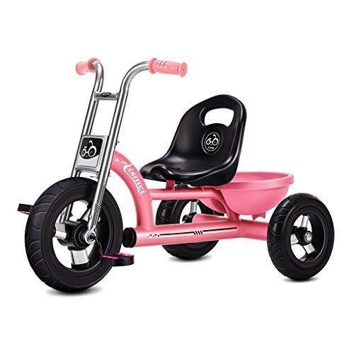 GYF Triciclo De Bicicletas Niños Cochecito De Bebé Portátil Presente Niño Y Niña De 3 Coches De Juguete De Color Opciones De Cumpleaños (Color : Pink)