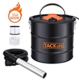 TACKLIFE Advanced Ash Vacuum Cleaner, 800W 120V 5 Gal 3.3ft Hose, 7.9 in Aluminum Tube, Debris/Ash Collector, Suitable for Cleaning Carbon Stoves/Barbecues/Braziers/Fireplaces HXPVC03A