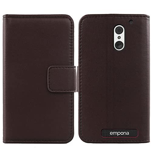 Lankashi Flip Echt Leder Tasche Für Emporia SMART.4 / SMART.S4 5