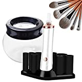Allstarry Nail Lacquer Shaker Electric Makeup Brush Cleaner Automatic Brush Cleaner Spinner Portable Liquid Evenly Machine Gel Nail Polish Shaking Mixer for Eyelash Glue Most Cosmetic Brushes (White)