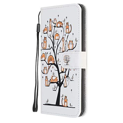 Funda para OnePlus Nord N200 5G, de piel sintética, con función atril, ranura para tarjeta de identificación, funda protectora para OnePlus Nord N200 5G