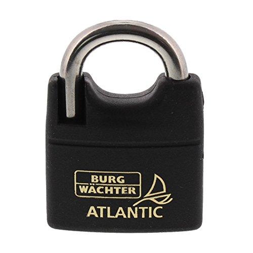 BURG-WÄCHTER Vorhangschloss, 8 mm Bügelstärke, 2 Schlüssel, Atlantic 217 F 50 Ni SB