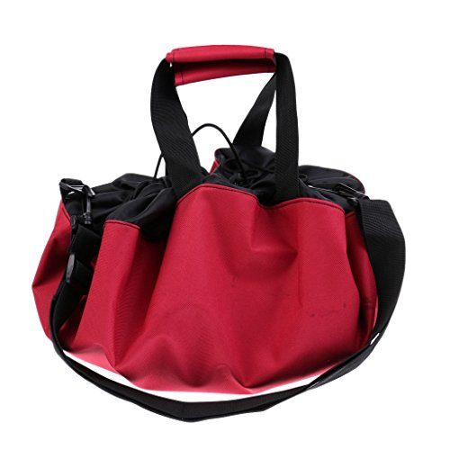 MagiDeal Bolsa Durable Traje de Baño Impermeable Paño de Oxford Multifuncional Guardar Llaves Loción Accesorios - Rojo