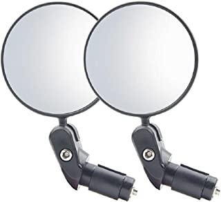 CYCEARTH Bike Mirror, 2pcs Bicycle Cycling Rear View Mirrors, HD Safety Rearview Mirror, Convex Mirror with Adjustable Han...