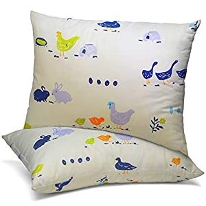 Celeep Baby Pillow Set [2-Pack] – 13 x 18 Inches Organic Toddler Bedding Small Pillow – Baby Pillow with 100% Natural Cotton Cover