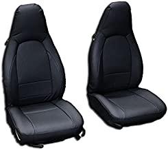 Iggee Black Artificial Leather Custom Made Original fit Front seat Covers Designed for Porsche 911 928 944 968 1985-1998