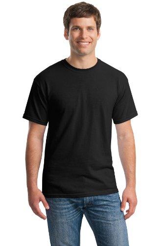 Gildan Mens Heavy Cotton 5.3 Oz. T-Shirt(G500)-BLACK-L-3PK