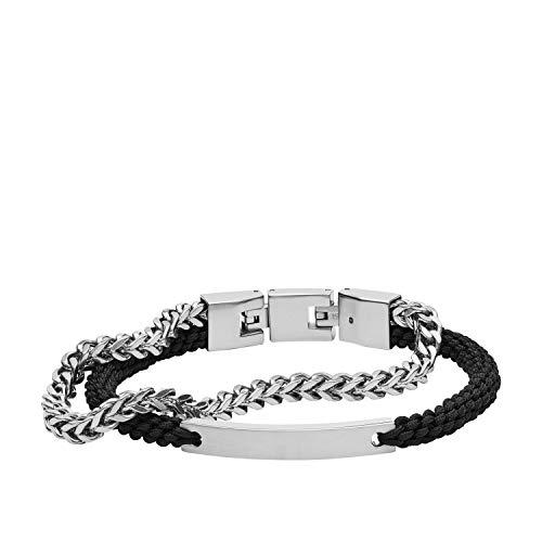 Fossil Herren Armband - Nylon und Edelstahl, JF03325040