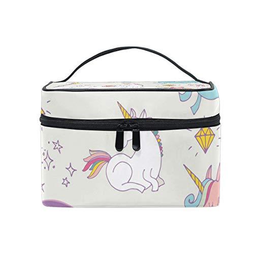 Unicon Rainbow Fairy Wings Travel Makeup CaseKosmetiktasche for Girl Women, Large Capacity and AdjustableMakeup Tasches Travel Waterproof Toiletry Bag Accessories Organizer