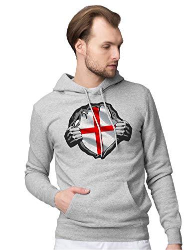 BLAK TEE Homme Superheroes Costume England Flag Sweat a Capuche XL