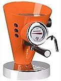BUGATTI, Diva, Espresso Cafetera y Cappuccino, para Café Molido y Cápsulas 15 bar, 950 W, Capacidad 0,8 litros, Diseño Elegante, Color Naranja