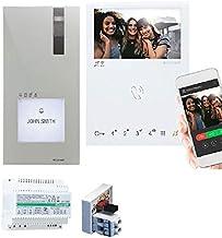 Comelit Video-deurintercom, 2 draden en binnenmonitor, mini-handsfree, WLAN, toegang op afstand