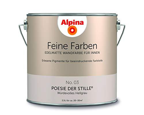 Alpina Feine Farben, 2,5L, Farbwahl, Edelmatte Wandfarbe für Innen (No.3 Poesie der Stille)