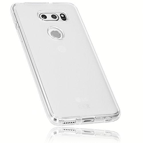 mumbi Hülle kompatibel mit LG V30 ThinQ Handy Hülle Handyhülle, transparent weiss