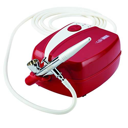 Cake Boss Decoración Herramientas Kit De aerografía, rojo