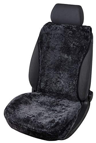 Walser Sitzaufleger aus Lammfell Vogue schwarz 16-18mm Fellhöhe