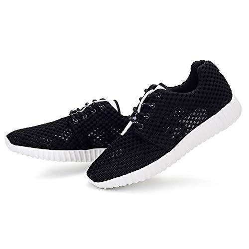 [天豐] 通気性の良いメッシュ素材サボスニーカー女装 安全靴はランニングシューズ超軽量運動靴 メンズジョギングシューズ (25.5, 黒い)