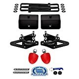 Supreme Suspensions - Full Steel Lift Kit for 2005-2020 Nissan Frontier and 2009-2012 Suzuki Equator 3' Front Strut Spacers + 3' Rear Lift Blocks w/U-Bolts Kit - UCA Bump Stops Included