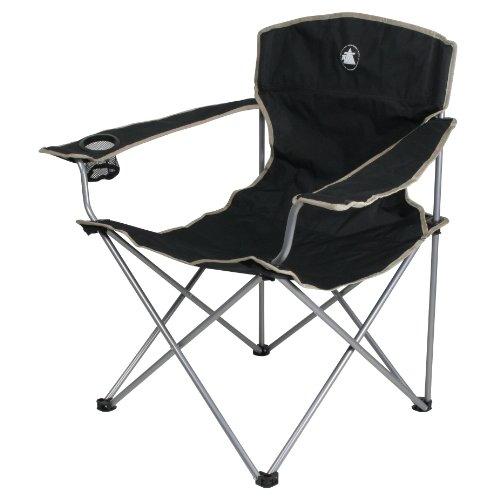 10T Campingstuhl Quickfold Easy Klappstuhl + Armlehnen & Getränkehalter Angelstuhl max 120kg