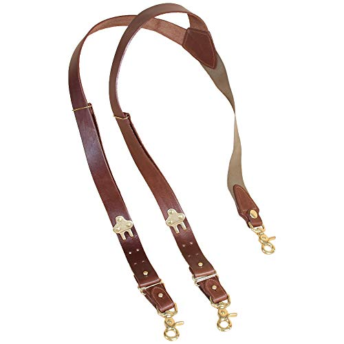 Leather Suspenders No. 2, Snap Hook, Best Full-Grain, USA Made | Col. Littleton