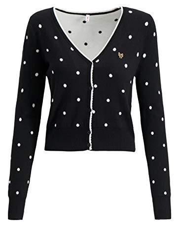Blutsgeschwister Damen Strickjacke Powerdots Cardigan super Black dot - M