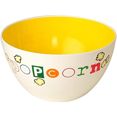 Wabash Valley Farms Yellow Fun Time Popcorn Bowl - Perfect for Family Night