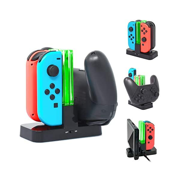 Pro Controller Charging Dock Stand Station for Nintendo Switch and Switch Lite, FYOUNG Charger for Nintendo Switch/Switch Lite with a Type-C Charging Cable
