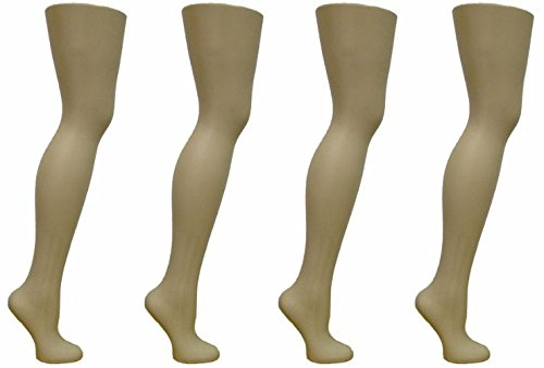 4 Free Standing Female Mannequin Leg Sock and Hosiery Display Foot 28' Tall or Christmas Leg Lamp (SCK-FR-4)