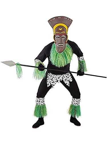 DISBACANAL Disfraz de Africano para Hombre - L
