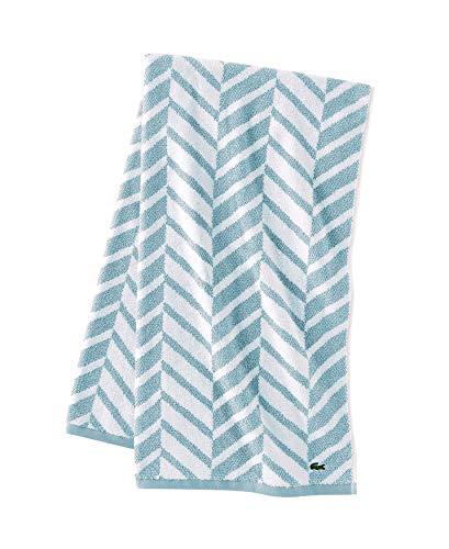 Lacoste Herringbone 100% Cotton Towel, 30x54 Bath, Celestial Blue
