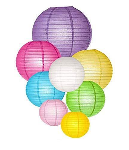 Cratone Cratone Papier Lampions Laterne Lampenschirm Hochtzeit Party Dekoration Ballform Hängen Dekorationen Ball Laternen Lampen (Verschiedene Farben) 8 Stück