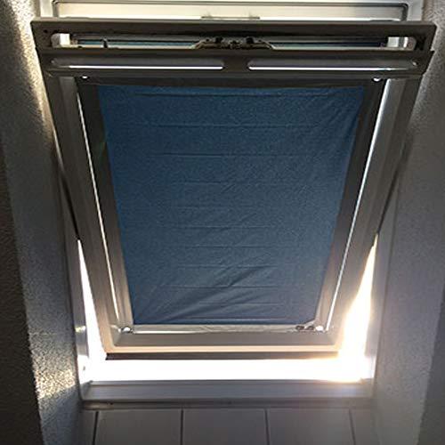 Sonnenschutz für Velux & Roto Dachfenster | Ohne Bohren mit Saugnäpfen *KraftHaftSauger Made in Germany!* | | Rollo | eXsun | Braas | Fakro | Verdunklungsrollo - Größe: Velux 204 | F04 = 48x75cm