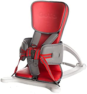 Firefly by Leckey GoTo Vinyl Postural Support Seat - Lightweight Portable Supportive Seat for Children with Special Needs – Floorsitter and Standard Headrest - Red, Size 1