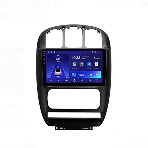 MIVPD Android 10.0 Autoradio SAT NAV Radio per Chrysler Voyager/Dodge Caravan 4 2000-2007 Navigazione GPS 9 '' unità Principale Touchscreen MP5 Lettore multimediale Ricevitore Video