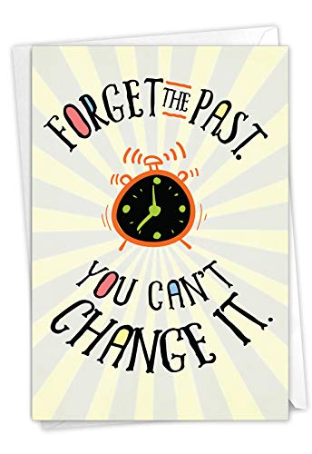 NobleWorks, Forget The Past - Funny Card for Birthdays - Hilarious Gift and Present Joke, Notecard with Envelope C7200BDG