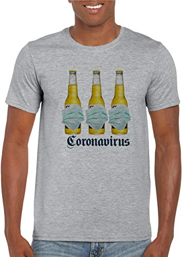 Virus T-Shirt, Funny Virus Shirt, Sport Gray Virus Beer