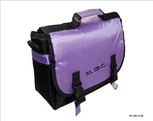 New Black & Purple Trim Messenger Style Case Bag 4 Amazon Kindle Touch 3G...