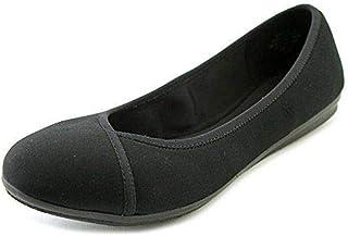 حذاء نسائي مسطح Easy Spirit Gulia2، أسود، مقاس 6 W US