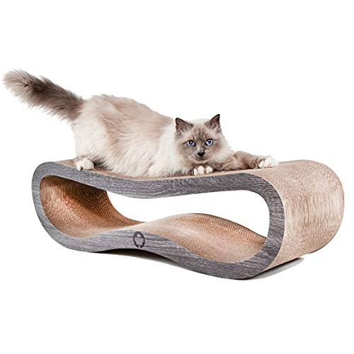 CanadianCat Company ® | Kratzbrett Orbit | dunkelgrau | Kratzmöbel, Lounge für Katzen | Kratzpappe + Katzenminze | ca. 84 x 24 x 23cm